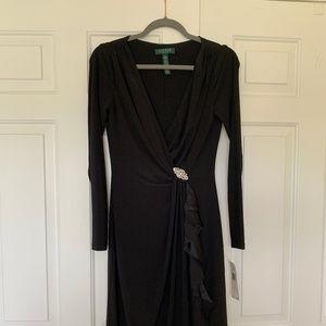 Ralph Lauren black midi dress - size 4 (NWT)